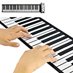 Flexible Synthesizer Keyboard Piano with Soft Keys - Portable Roll Up Piano
