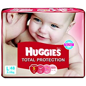 Huggies Total Protection Large Diapers (48 Count)