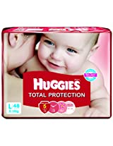 Huggies Total Protection Diapers Large- 48 Count