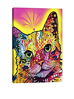 Dean Russo Tilt Cat Gallery Wrapped Canvas Print