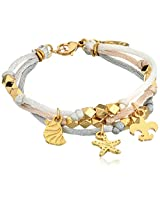 "Ettika ""Satin Cord"" Gold Beaded Earth ""Satin Cord"" Bracelet Combination Charms"