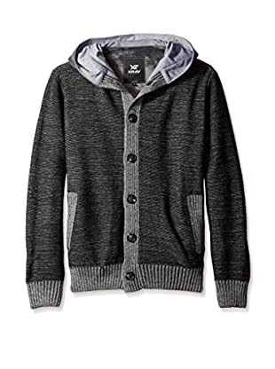 X-Ray Men's Button Front Hooded Cardigan