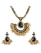 Ethnic Indian Bollywood Jewelry Set Chandni Pearl Pendant Set with EarringsORPE0001KA