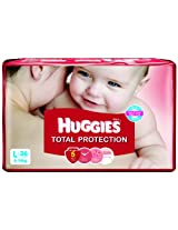 Huggies Total Protection Large Size Diapers (36 Count)