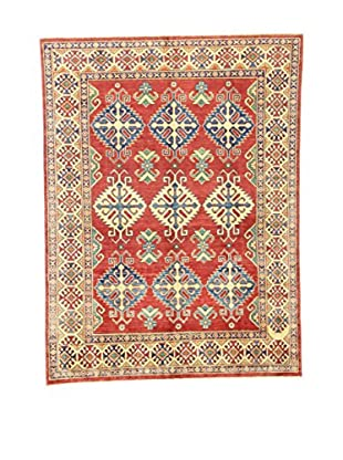 Eden Teppich Uzebekistan rot/beige/grün 153 x 205 cm