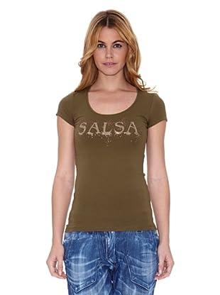 Salsa Camiseta France Regular (Verde Oliva)
