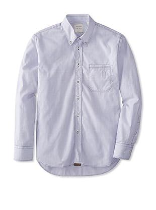 Billy Reid Men's Tuscumbia Woven Shirt (Black/White)