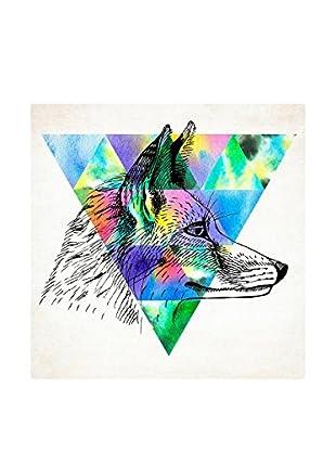 Really Nice Things Leinwandbild Watercolor Wolf