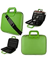 Green SumacLife Cady Semi Hard Case w/ Shoulder Strap for Dell - Inspiron 15.6 Laptop