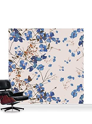 Michael Angove Clematis Powder Blue Mural, Standard, 8' x 8'