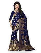 Shree Sanskruti Nevy Blue Color Tassar Silk Saree For Women