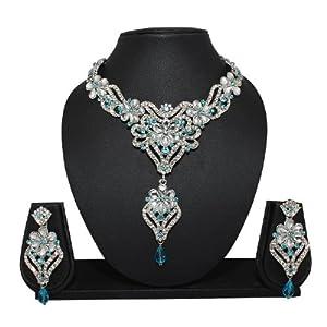 Opulent Blue Fancy Diamond Necklace Set