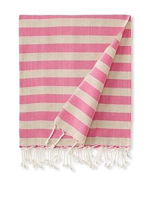 Nomadic Thread Society Linen Hammam Towel (Fuchsia)