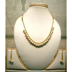 Sri Kapi Pearls Natural Pearls Hanging Set