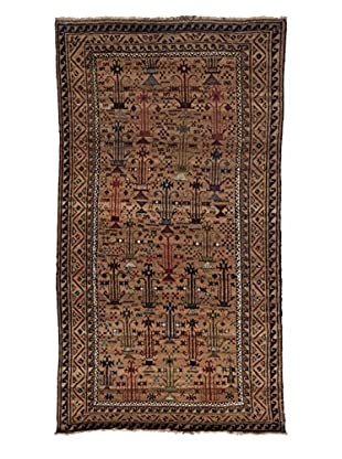 Darya Rugs Tribal One-of-a-Kind Rug, Gold, 4' 3