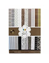 W&M (Brown), Size A5, Craft paper - 20 Designs,40 Sheets