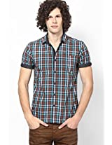 Checks Olive Slim Fit Fit Casual Shirt Locomotive