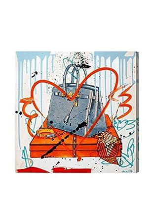 Oliver Gal My Blue Bag Remix Canvas Art
