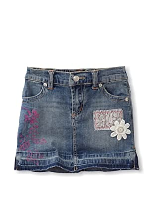 Mimi & Maggie Girl's Embellished Denim Skirt (Blue)