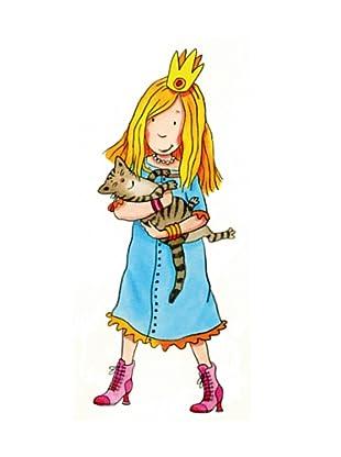 Beiwanda Kids Wandtattoo Prinzessin trägt Katze