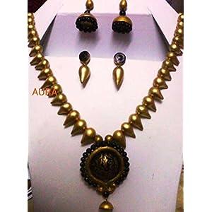 AUrA-EArTH Antique gold set jewellery Set