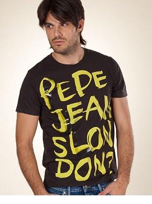 Pepe Jeans London T-Shirt Scrawl schwarz L