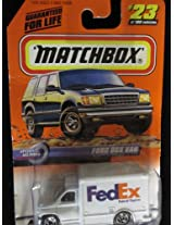 Fed Ex Delivery Ford Box Van Matchbox Speedy Delivery Series #23
