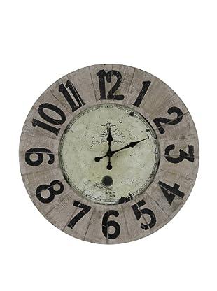 Cooper Classics Peterson Clock, Natural Wood