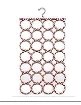 Multi Purpose 28 rings foldable Hanger for Ties , Scarfs , Belts , Bags Etc Multi-coloured (Random Color) - MosQuick
