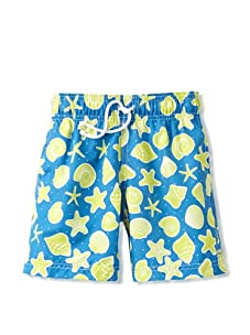 Azul Swimwear Boy's Shells Boardshorts (Turquoise)