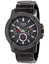 Pulsar Men's PP6103 Analog Display Japanese Quartz Black Watch