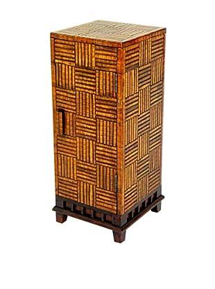 Charleston Ozaka Bamboo Pedestal, Brown