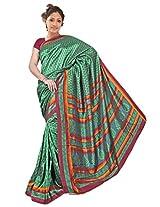 Kothari Printed Saree (KT0129MA_Green)