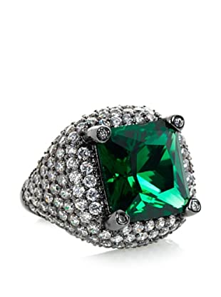 CZ by Kenneth Jay Lane Emerald Green Faceted Square Ring