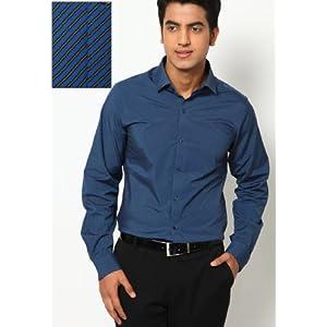 Blue Slim Fit Formal Shirt