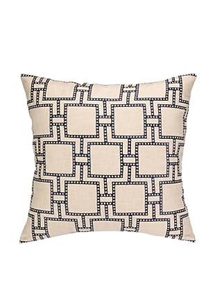 Peking Handicraft Dotted Line Pillow, Navy