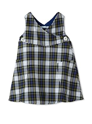 Elephantito Girl's 2-8 Plaid Jumper (Plaid Navy)
