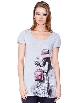 Esprit Camiseta Print (gris claro)