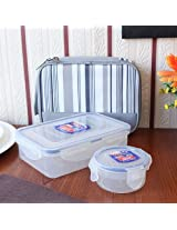 Clear Executive Lunch Box With Bag Set of Three Pieces from Lock & Lock