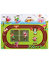 PIGLOO Wooden Knob Peg Puzzle - Sports Theme, For Ages 3+ Years
