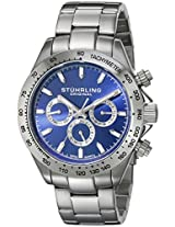 Stuhrling Original Octane Analog Blue Dial Men's Watch - 564.03