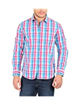 Oxemberg Men's Cotton Casual Shirt (MSL1983F_PINK_38)