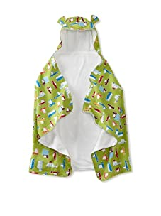 My Blankee Baby Hooded Towel with Ears (Road Trip Lime Green)