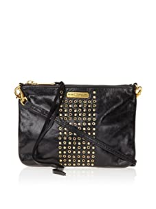 Rebecca Minkoff Women's Rockette Leather Clutch (Black Shine)