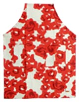 DollsofIndia Printed Cotton Apron with Pockets - Cotton - Red