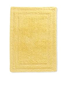 "Terrisol Reversible Cotton Bath Rug, Canary, 18"" x 25"""