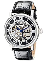 Akribos XXIV Men's AK540SS Mechanical Skeleton Leather Strap Watch