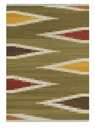 Loloi Rugs Santana Hand-Woven Wool Rug (Green/Multi)