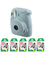 Fujifilm FU64-MINI8BLK100 INSTAX MINI 8 Camera and Film Kit with 100 Exposures (Blue)