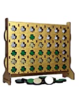 Shamrock 4 in a Row Wooden Tabletop - Travel - Convertible Game